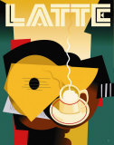 Cubist Latte Plakat av Eli Adams