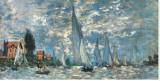 Regatta i Argenteuil Sträckt Canvastryck av Claude Monet