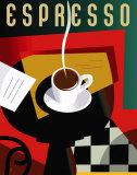 Cubist Espresso Plakater af Eli Adams