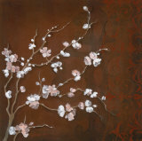 Cherry Blossoms on Cinnabar II Prints by Janet Tava