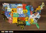 Carte des Etats-Unis II Posters par Aaron Foster