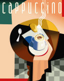 Cubist Cappuccino Prints by Eli Adams
