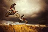Figure aérienne de motocross Affiches
