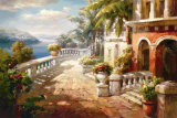 Seaside Terrace Prints by Roberto Lombardi