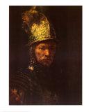 Man with Helmet Plakater af Rembrandt van Rijn
