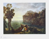 Coastal Landscape with Acis and Galatea Collectable Print by Claude Lorrain