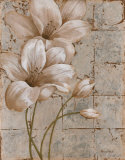 Lilies on Silver I Posters by Vivian Flasch
