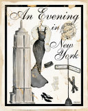 An Evening in New York Poster by Kathy Hatch