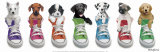 Welpen in Turnschuhen|Sneaker Pup Line-Up Kunstdruck von Keith Kimberlin