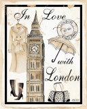 In Love with London Poster von Kathy Hatch