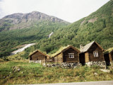 Restored Old Farm Buildings Near Loen, Olden, Norway, Scandinavia Photographic Print by Richard Ashworth
