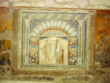 Mosaic in House of Neptune, Herculaneum, Near Naples, Campania, Italy Photographic Print by Richard Ashworth