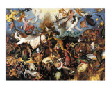 The Fall of the Rebel Angels, c.1562 Print by Pieter Bruegel the Elder