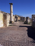 Mosaic Floor, Solunto, Carthaginian and Later Roman Site, East of Palermo, Sicily, Italy Photographic Print by Richard Ashworth