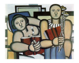 La Lecture, c.1924 Prints by Fernand Leger