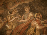 Mosaic, Ulysses and Polyphemus, Dating from the 4th Century AD, Near Piazza Armerina Photographic Print by Richard Ashworth
