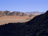 Looking South East from Jebel Qattar, Southern Part of Wadi Rum, Jordan Photographic Print by Richard Ashworth