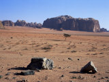 Looking South to Jebel Khazali, from Abu Aineh, South of Rum Village, Wadi Rum, Jordan, Middle East Photographic Print by Richard Ashworth