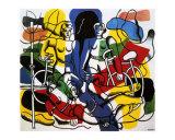 Les Belles Cyclistes, c.1944 Plakater af Fernand Leger