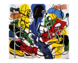 Les Belles Cyclistes, c.1944 Láminas por Fernand Leger