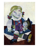 Portrait of Maya with her Doll, c.1938 Prints by Pablo Picasso