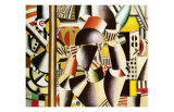 Les Acrobates dans le Cirque, c.1918 Print by Fernand Leger