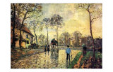 Horse and Carriage Affiches par Camille Pissarro