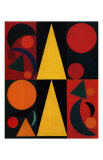 Soleil, c.1947 Print by Auguste Herbin