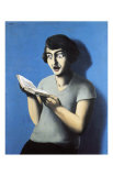 La Lectrice Soumise Print by Rene Magritte