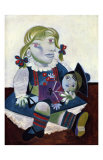 Portrait of Maya with her Doll, c.1938 Affiches par Pablo Picasso