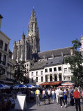 Spire and Part of the Cathedral from Groen Plaats, Antwerp, Belgium Photographic Print by Richard Ashworth