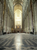 Interior of Amiens Cathedral, Amiens, Unesco World Heritage Site, Nord, France Photographic Print by Richard Ashworth