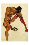 Nu Masculin Assis II, c.1910 Posters tekijn Egon Schiele
