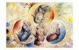 St. Jean Joins Dante and Beatrice Poster von William Blake
