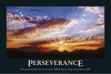 Persévérance, en anglais Poster par Chris Daniels