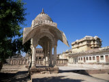 Palace Building with Nagaur Fort, Rajasthan State, India Photographic Print by Richard Ashworth