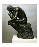 The Thinker Poster by Auguste Rodin