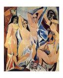 Las señoritas de Avignon, c.1907 Láminas por Pablo Picasso