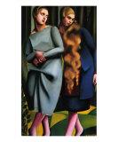 Irene and Her Sister Kunstdrucke von Tamara de Lempicka