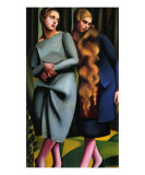 Irene and Her Sister Prints by Tamara de Lempicka