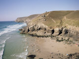 Beach at Chapel Porth, Near St. Agnes, Cornwall, England, United Kingdom Photographic Print by Richard Ashworth