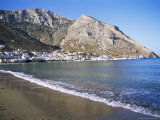 Beach and Port of Kamares, Island of Sifnos, Cyclades, Greece Photographic Print by Richard Ashworth