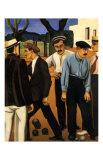 Les Joueurs de Boules, c.1923 Pôsters por Auguste Herbin
