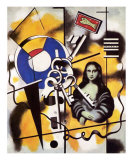 La Joconde aux Clefs, c.1930 Art by Fernand Leger