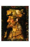 Autumn, c.1573 Plakat af Giuseppe Arcimboldo