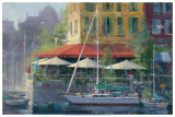 Dockside Cafe Print by James Coleman