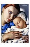 Äiti ja lapsi (Mother and Child) Julisteet tekijänä Tamara de Lempicka