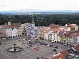 Part of the Huge Square with Samson's Fountain, Centre of Cesky Budojevice, Cesky Budejovice Photographic Print by Richard Ashworth