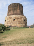 The Dhamek Stupa Dating from the 5th and 6th Centuries AD, Near Varanasi, India Photographic Print by Richard Ashworth