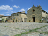 Piazza and Church, Monteriggioni, Siena, Tuscany, Italy, Euruope Photographic Print by Richard Ashworth